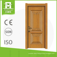 Top quality single leaf solid wood interior door with latest design from china