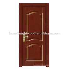 Diseño clásico para puertas interiores de piel de melamina para puerta de estudio