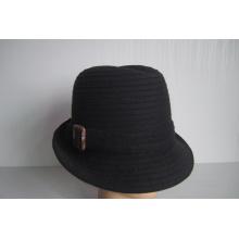 Sombreros de trenza de tela de lana para mujer - YJ73