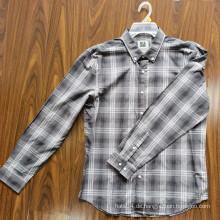 100% Baumwolle Erwachsene Shirts Langarm Herren Shirts