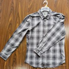 Camisas 100% algodón para adultos Camisas de manga larga para hombres