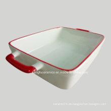 Weiße Farbe Glasur Keramik Backformen