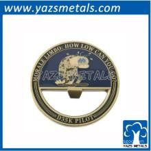 round engrave metal bottle cap opener