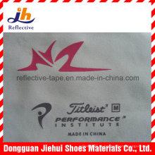 Logotipo colorido personalizado de transferência de calor impresso em alta qualidade