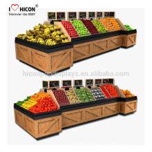 Wir sind Ihre One-Stop-Quelle für hölzernen Supermarkt Obst und Gemüse Food Store Display Rack Seit 1998