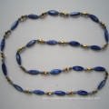 Long Bright Shell Bead&Freshwater Pearl Necklace