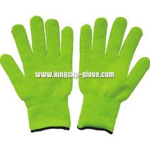 7gterry stricken Liner Acryl fluoreszierende Handschuh (2300)