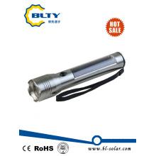 3W Solar Powered LED linterna antorcha con cable USB recargable