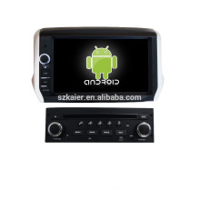 Quad-Core! Auto-DVD mit Spiegel Link / DVR / TPMS / OBD2 für 8-Zoll-Touchscreen-Quad-Core 4.4 Android-System PEUGEOT 208/2008
