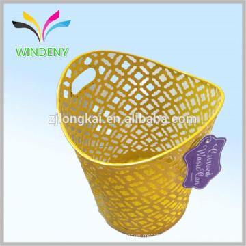 Office Stationery Mesh Wire Metal Paper Waste Bin / Lixeira