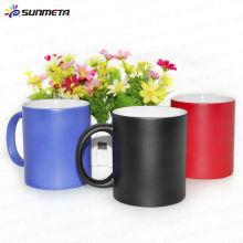 Hot Sale Color Change Magic Mug Noir Rouge Bleu Chine Factory