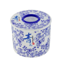 Blue & White Porcelain Plastic Paper Holder (FF-5005)