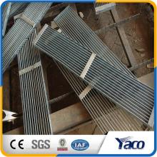 kohlenstoffarmer Stahl oder Edelstahl Material Stahlgitter, lowes rutschfeste Treppenstufen