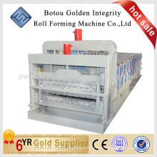 Machine à double couche, machine à formage de rouleaux double couche de haute qualité, machine à fabriquer des tuiles