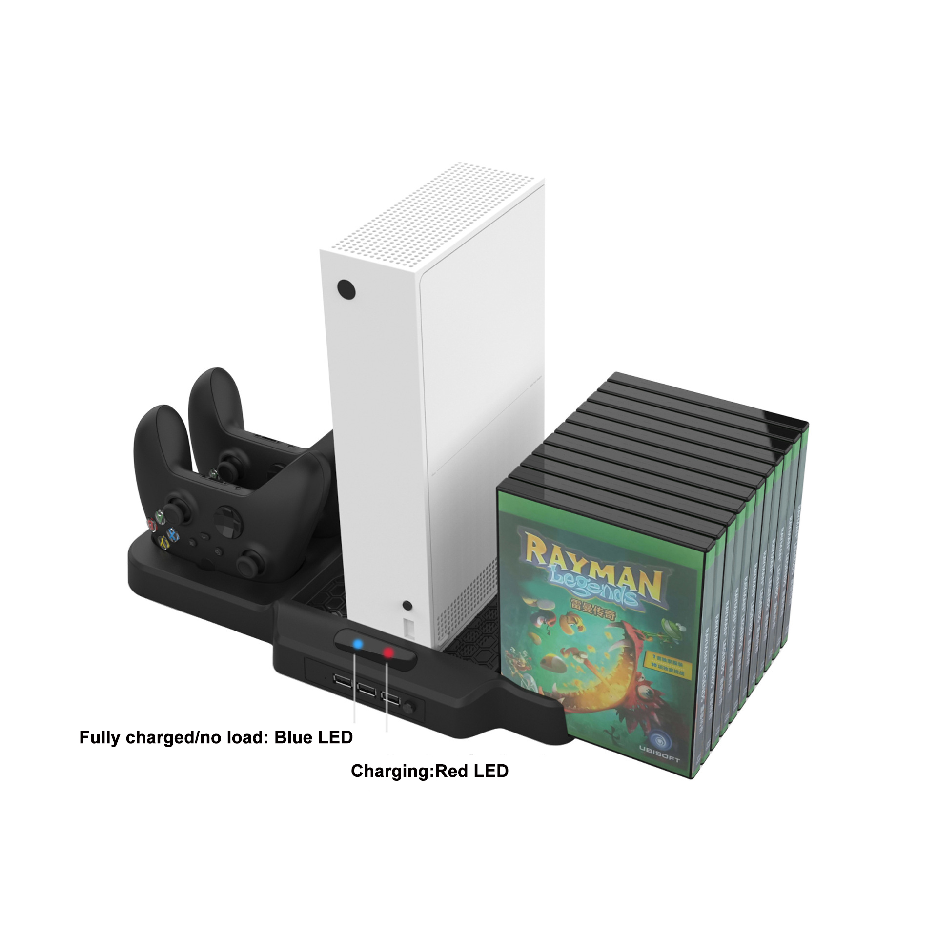 Vertical Stand For XSX Game Console with Game box storage