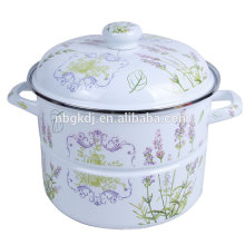 High quality enamel steamer with full decals