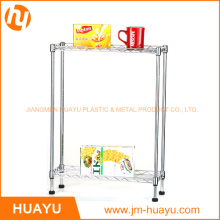 2 Tier Chrome Wire Shelving for Kitchen and Home Storage