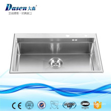Submount installation granite topmount washing single bowl sink with faucet hole