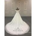 V-neck long tail 2018 Off shoulder for girls bridal gowns wedding dress