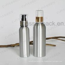Silber Kosmetik Creme Verpackung Flasche mit Luxus Lotion Dispenser (PPC-ACB-056)
