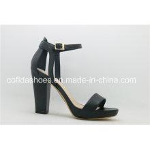 Classic Sandale à talons hauts noir avec des dessins sexy