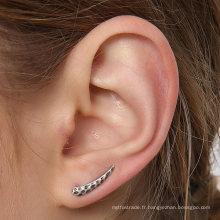 Boucles d'oreilles en argent sterling pointu Vintage Boucles d'oreilles robustes Collection d'oreille simple