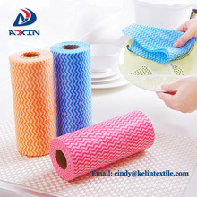 High Quality spunlace nonwoven household Disposable dish cleaning cloths