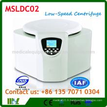 MSLDC02 Table-Type Centrifugeuse à basse vitesse / centrifugeuse à basse vitesse à banc fixe