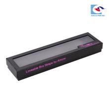caixa de embalagem de extensão de tecelagem de cabelo personalizado com janela