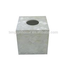 Жемчужина материнской раковины пресноводной оболочки общей белый квадрат санитарных салфетки Box