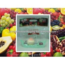 sacos de plástico dos legumes frescos / saco plástico da malha do fruto / sacos de plástico perfurados