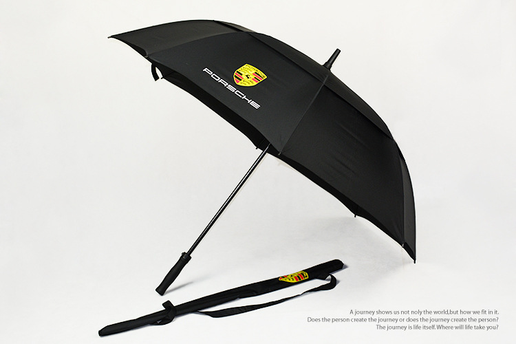 Car brand black PORSCHE advertising golf umbrella02