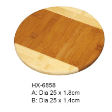 Okrągły Bamboo 2-tonowy Chopping Block Pizza Board