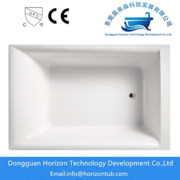 Akrilik High Gloss Finish Acrylic Rectangular Bathtub