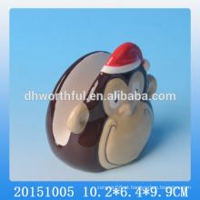 Suportes de guardanapo feitos à mão, suporte de guardanapo decorativo com design de macaco