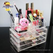 Jinbao personalizar personal caja de acrílico nuevo cristal caliente con cajón