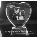 Gravado a Laser 3D personalizado K9 claro cristal coração prêmios melhor cristal de aniversário, lembranças dos presentes de casamento