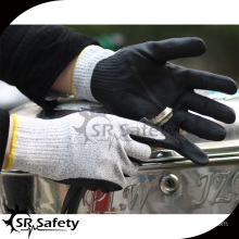 SRSAFETY knit cut resistant nitrile gloves/ safety gloves production line