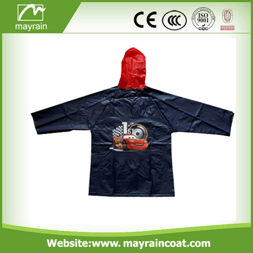 Kid' s PVC Raincoat for Promotion