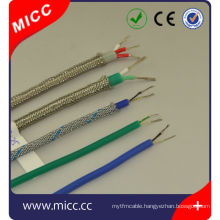 K/J/T/E/R/L-16/20/24AWG-sil/sil/SSB-3 core extension wire ansi thermocuple wire