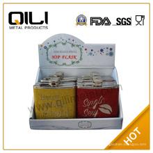 FDA 6oz Glitzer Flachmann Geschenke für sie mit Anzeigen Box-set
