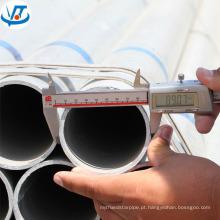A tubulação de aço inoxidável soldada do diâmetro de 100mm / zinco revestiu o SOLDADO / a tubulação de aço galvanizada mergulhada quente
