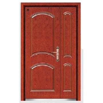 Холодного Проката Стали Древесины Бронированная Дверь