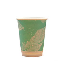 Factory disposable PLA paper cups  biodegradable coffee paper cups with PLA lids