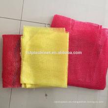 bolsas de malla de cebolla roja / bolsa de malla de leña / bolsas de malla pequeña
