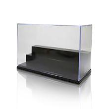 Cubierta de la caja de la exhibición de 3 pasos, exhibición de acrílico cristalina / cajas