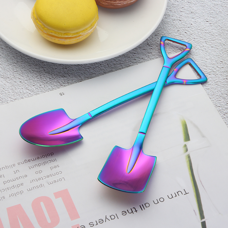 Stainless Steel Shovel Shape Dessert Spoon