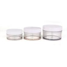 Hot sale 50ml 100ml 150ml PETG clear plastic cosmetic cream empty jar for Beauty Face Cream