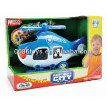 19CM B/O W/light helicopter toy