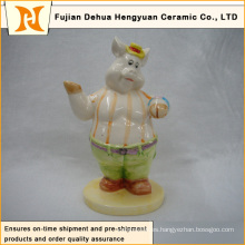 Decoración de dibujos animados, decoración de dibujos animados de cerámica de cerdo